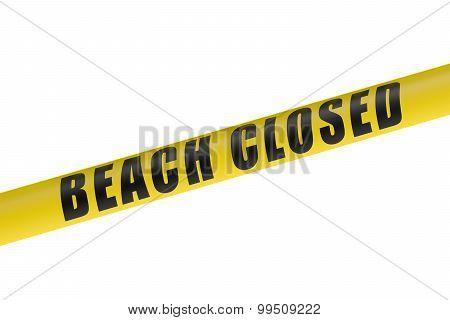 Beach Closed Line