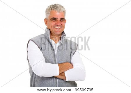 smiling middle aged man looking at the camera