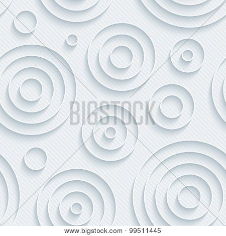Light gray circles walpaper. 3d seamless background. Vector EPS10.