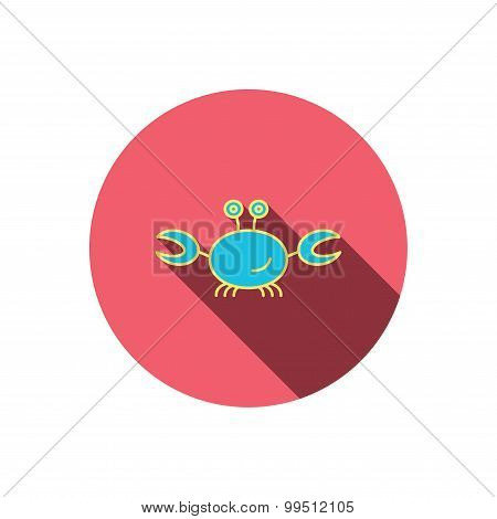 Crab icon. Cancer shellfish sign.