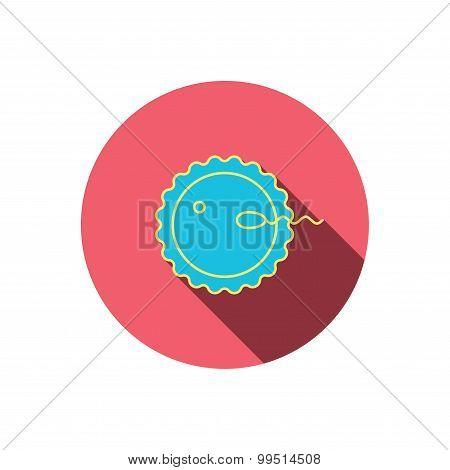 Fertilization icon. Pregnancy sign.