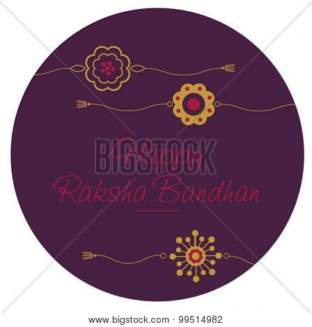 'Raksha Bandhan' greeting card cover.