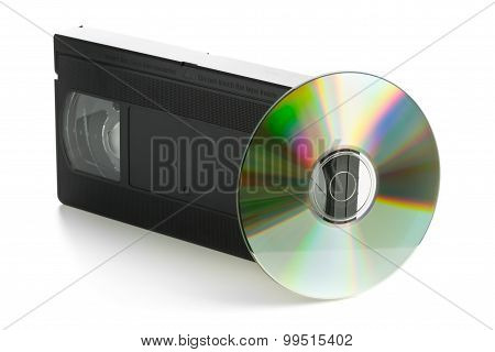 Analog Video Cassette With Dvd Disc