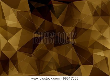 abstract triangle amber background