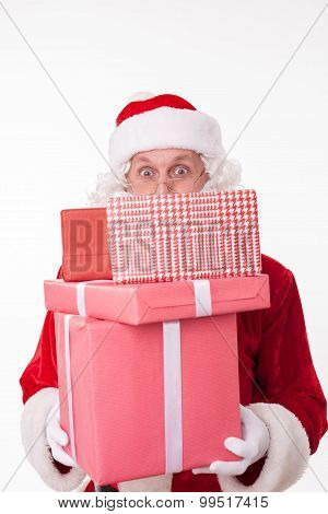 Friendly Father Christmas has gifts for you