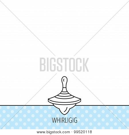 Whirligig icon. Baby toy sign.