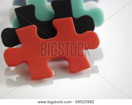 stack of the jigsaw puzzle