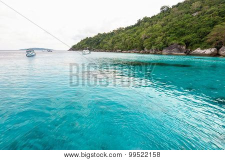 Honeymoon Bay In Mu Koh Similan, Thailand