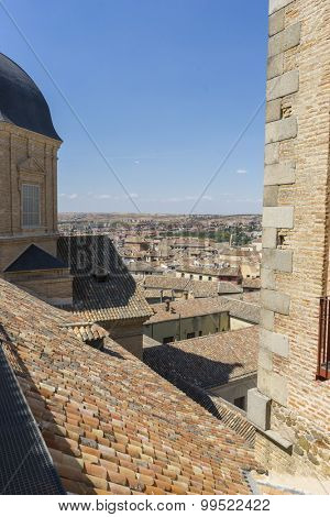 streets of the city Toledo, medieval architecture and Castilian