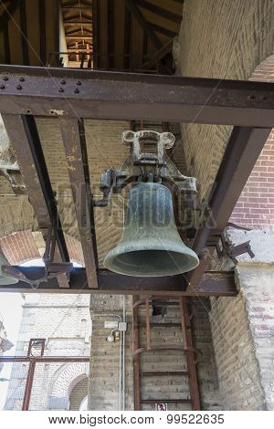 old bell in a Christian church, Toledo, Spain