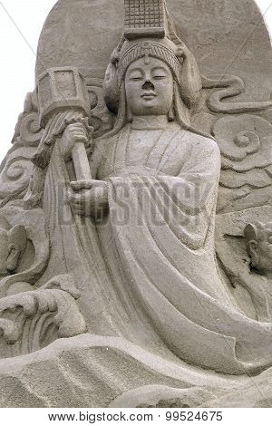 Buddhist Sculpture Made From Sand
