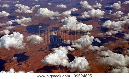 Aerial View From 35,000 Feet Of Tallaringa Desert Australia