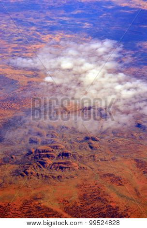 Aerial View Of Uluru (ayres Rock) Australia