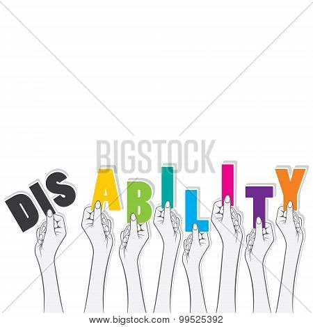 disability word banner design
