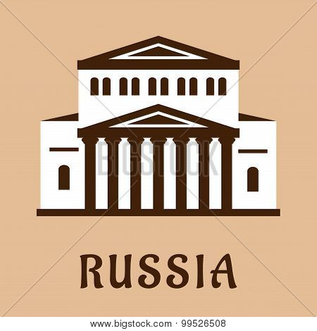 Russian Grand Theater flat icon