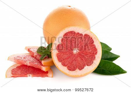 Ripe Red Grapefruit