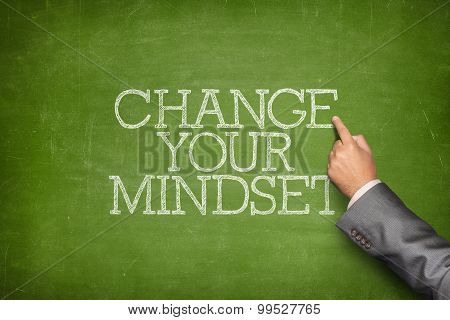 Change your mindset text on blackboard