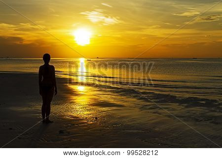 Sunrise Silhouette Person