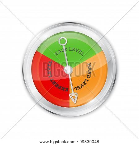 Abstract Shiny Level Indicator With Metal Needle