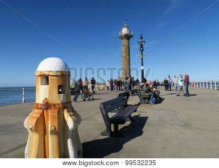 Tourists enjoy visit to Whitby pier