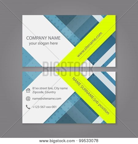 Modern simple business card template or visiting card set