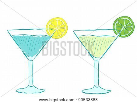 Cocktails with citruses
