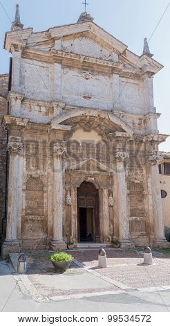 The Ancient Church Of Montepulciano