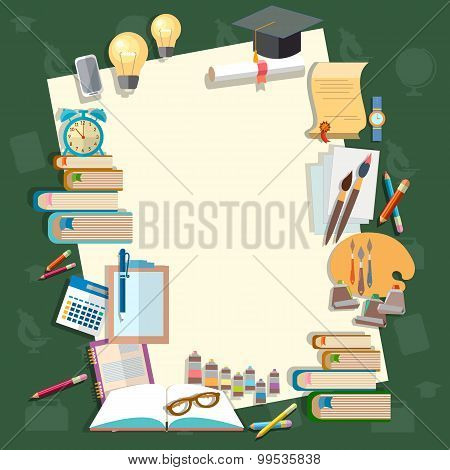 Education Back To School Lessons Textbooks School Subjects School Board Concept Study College Campus