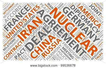 Nuclear deal word cloud for the Iran nuclear crisis