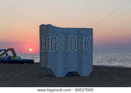Deserted Morning Beach