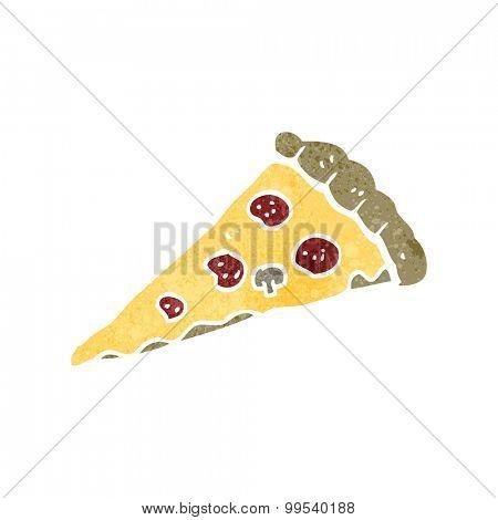 retro cartoon pizza