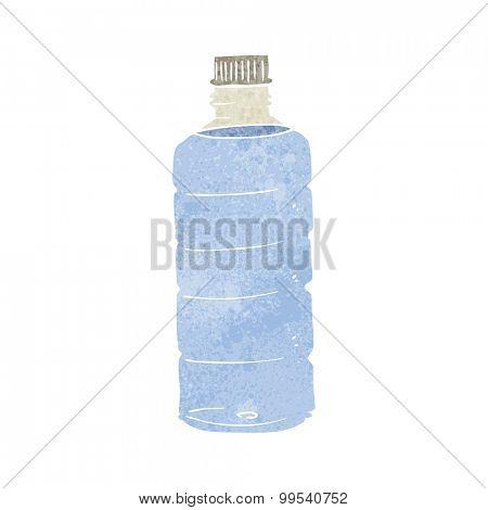retro cartoon water bottle