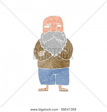 retro cartoon old man