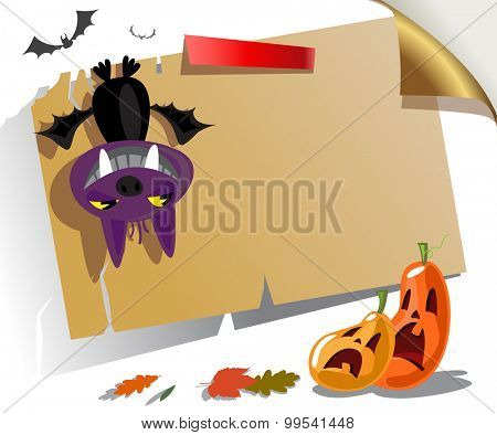 Welcome to Halloween party Poster. Vector illustration.