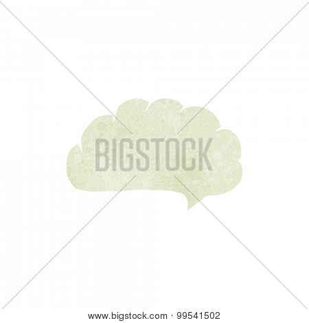 retro cartoon speech balloon cloud