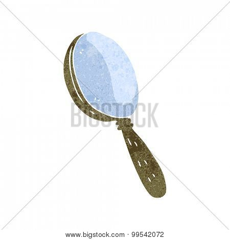 retro cartoon magnifying glass