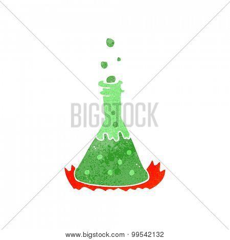 retro cartoon bubbling chemicals