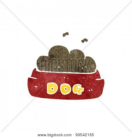retro cartoon dog food
