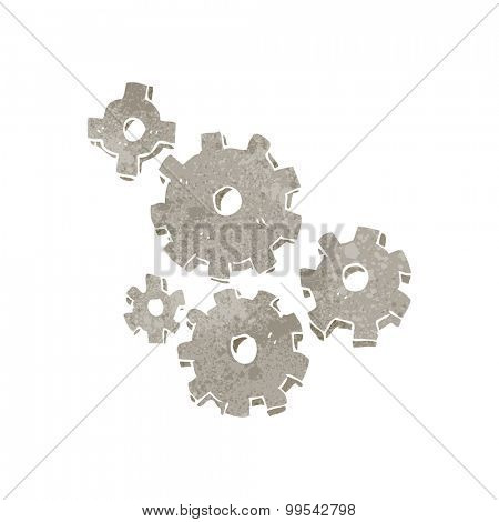 retro cartoon cogs and gears