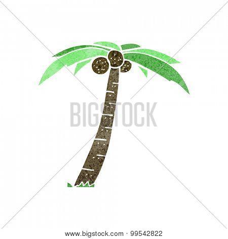 retro cartoon palm tree
