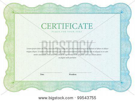 Horizontal Certificate And Diplomas Template. Vector