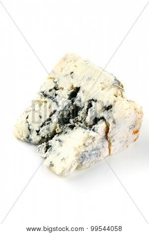 french blue soft cheese on white dish
