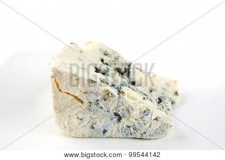 french gorgonzola soft cheese on white dish