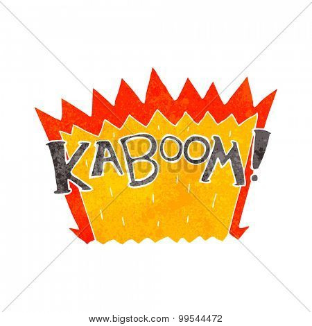 retro cartoon explosion