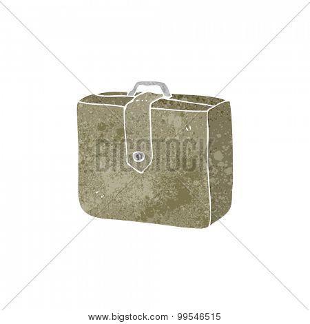 retro cartoon suitcase