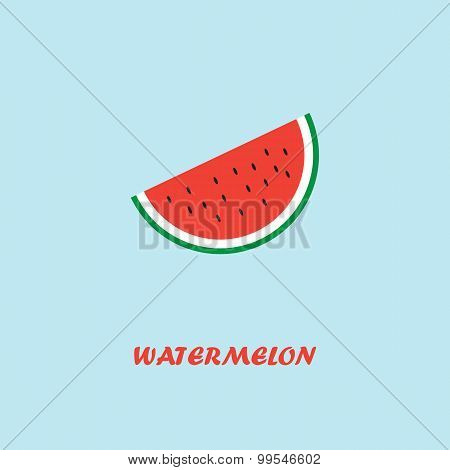 Watermelon. Vector Illustration. Pocter.