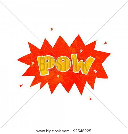 retro cartoon comic book pow symbol