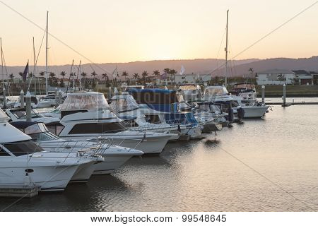 Luxurious Boats In The Marina