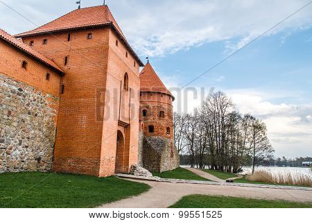 Side View Of Trakai Castle
