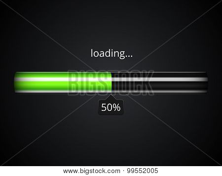 Green Loading Progress Bar